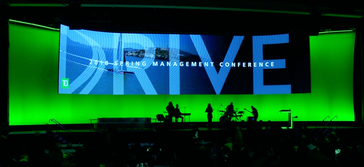 Stage view of DRIVE creative