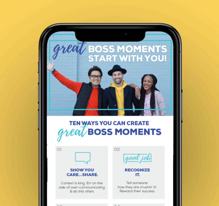 """Gap """"Great Boss"""" Campaign shown on mobile"""